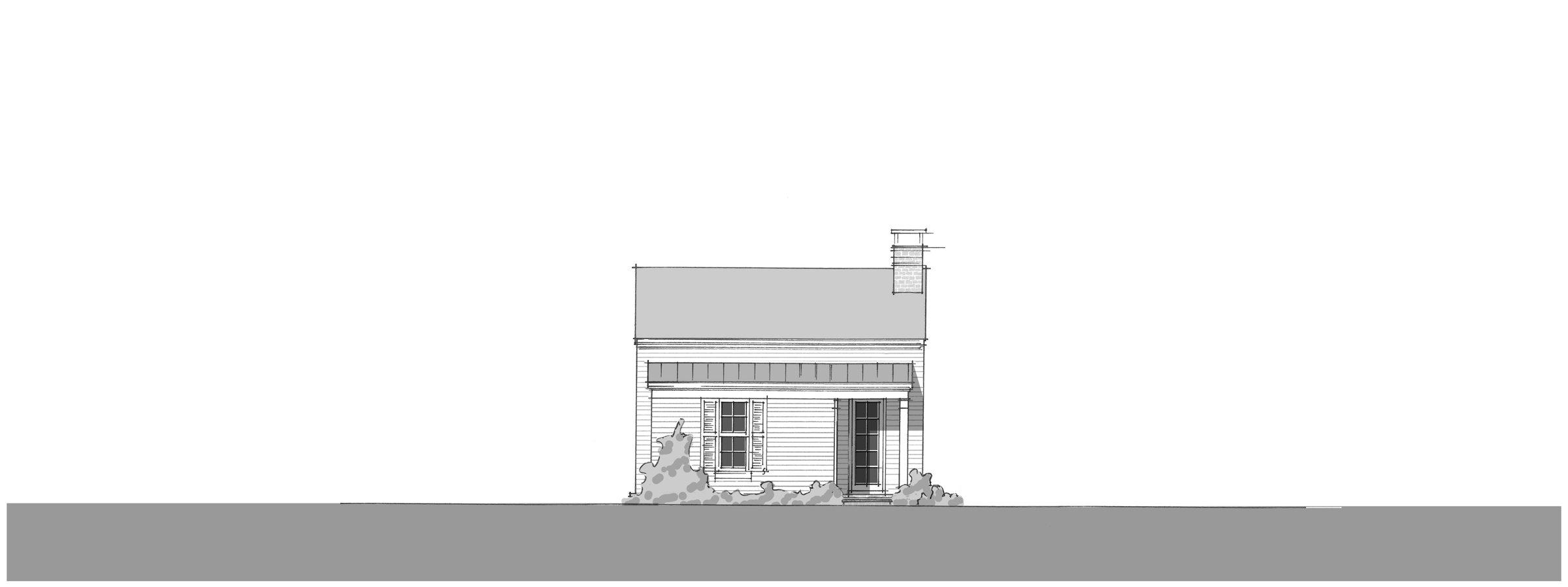 Bluebird Cottage - Front Elevation_2400