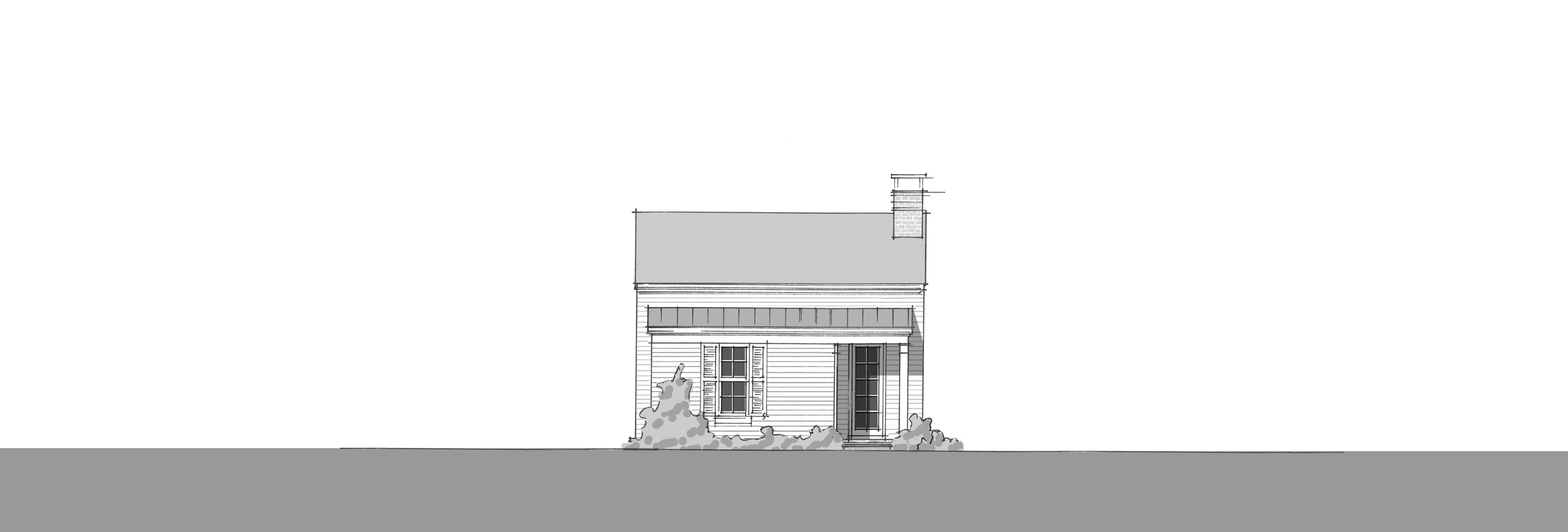 Bluebird Cottage - Front Elevation_2400_B
