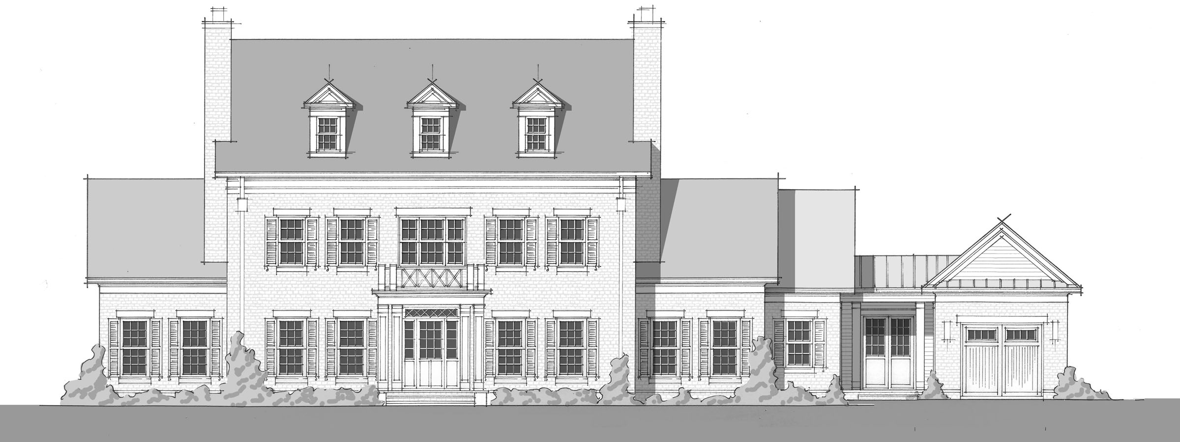 Blackman Residence - Front Elevation_2400
