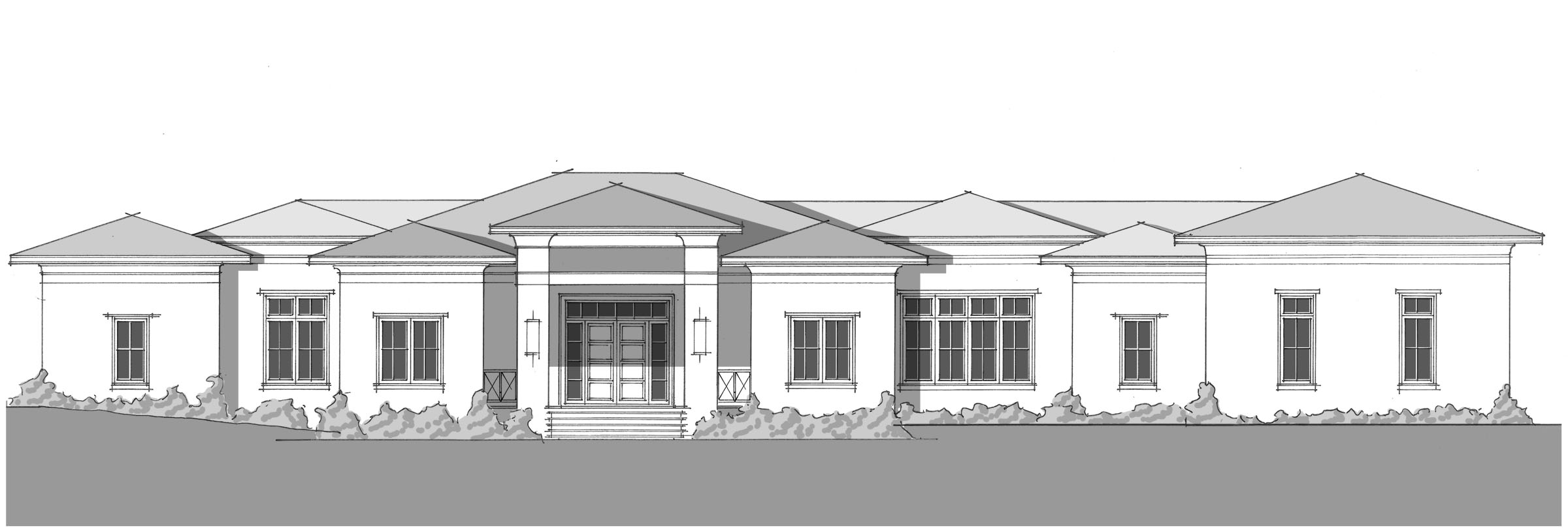 Johns Residence - Front Elevation_2400