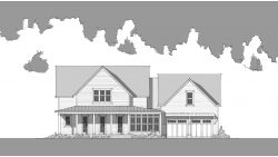 Old Mill Farmhouse a - Front Elevation